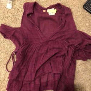 Purple free people flowy shirt